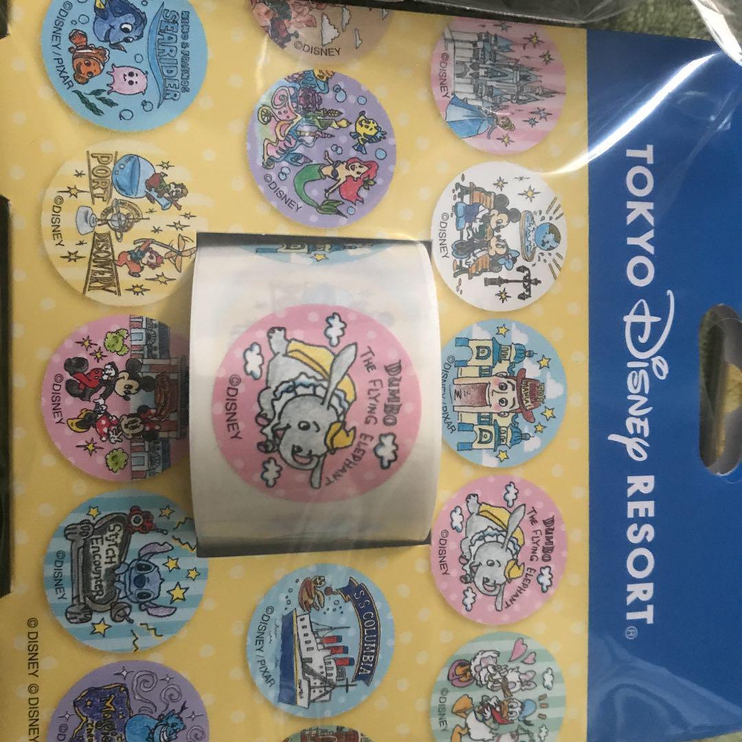 メルカリ ディズニー 手描き風 パークイラストマスキングテープ シール