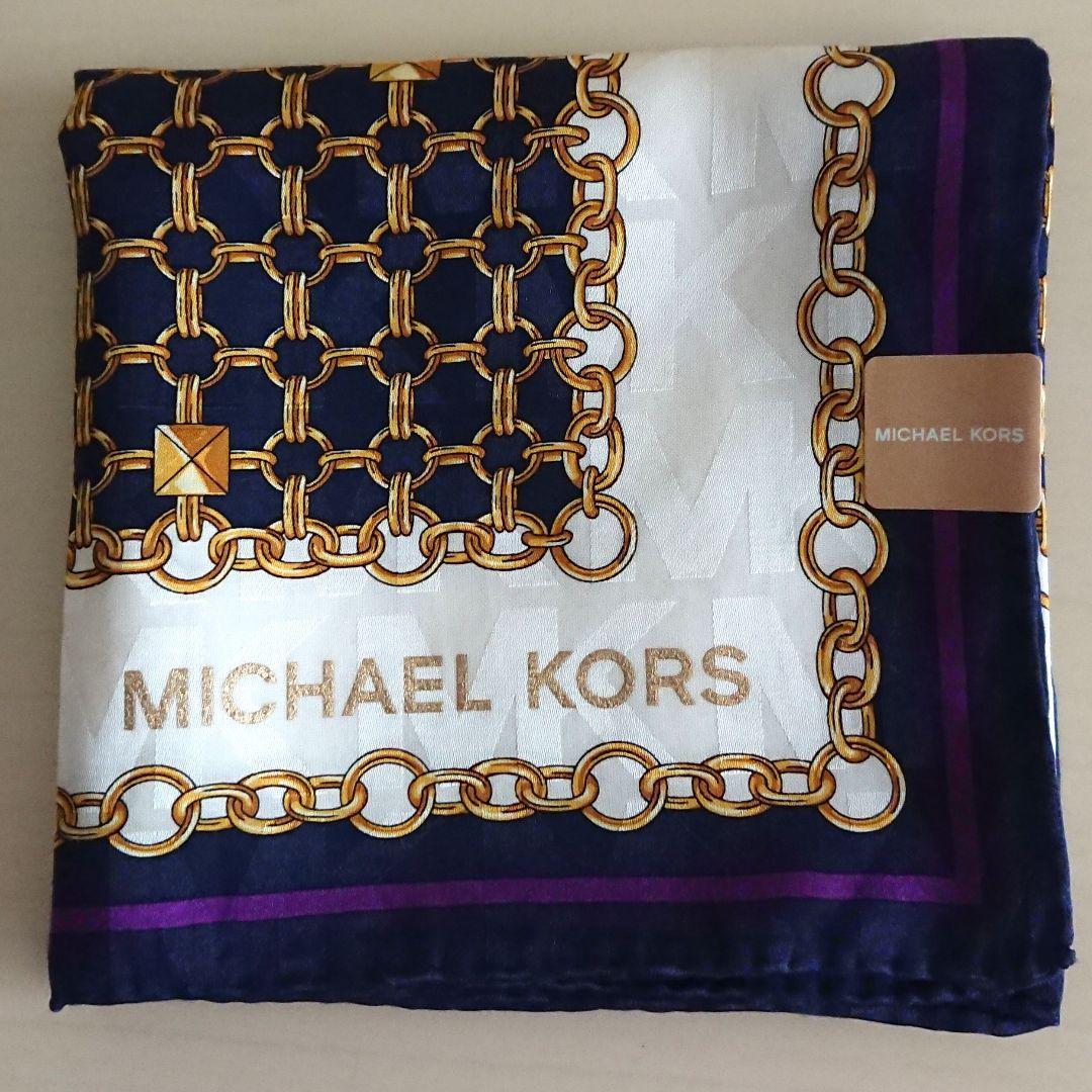 1a5ac27429ad メルカリ - 新品 MICHAEL KORS マイケルコース シルク混 ハンカチ × 1枚 ...
