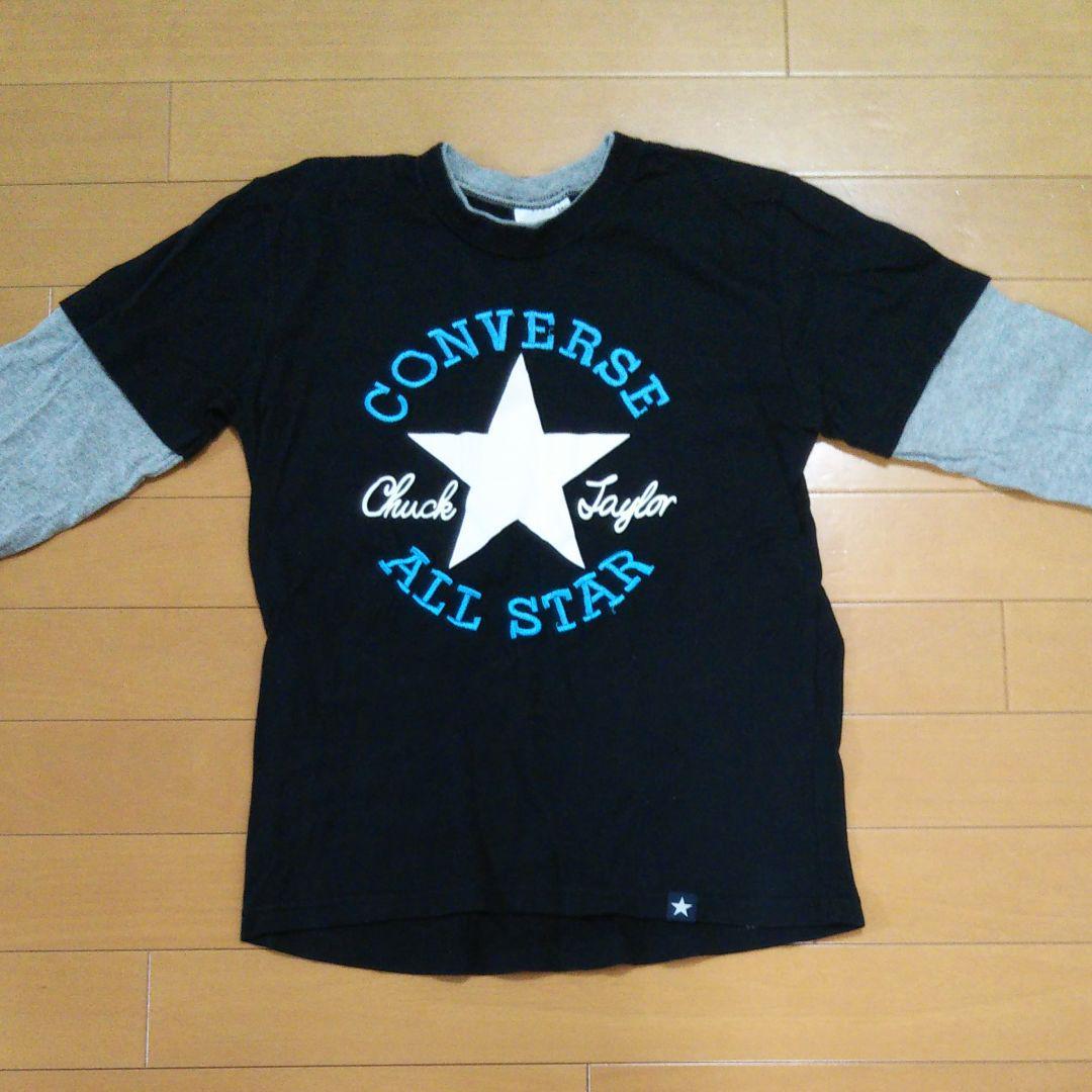 ac8bb1afa3341 メルカリ - コンバース CONVERSE 長袖Tシャツ 140  トップス(Tシャツ ...