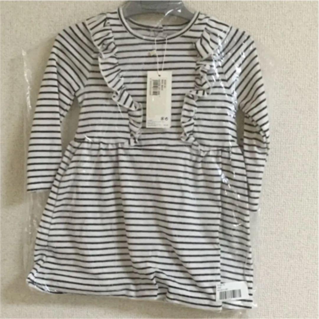 0862e44f7724f メルカリ - ミニマリニエールフリルワンピース  プチバトー  (¥2