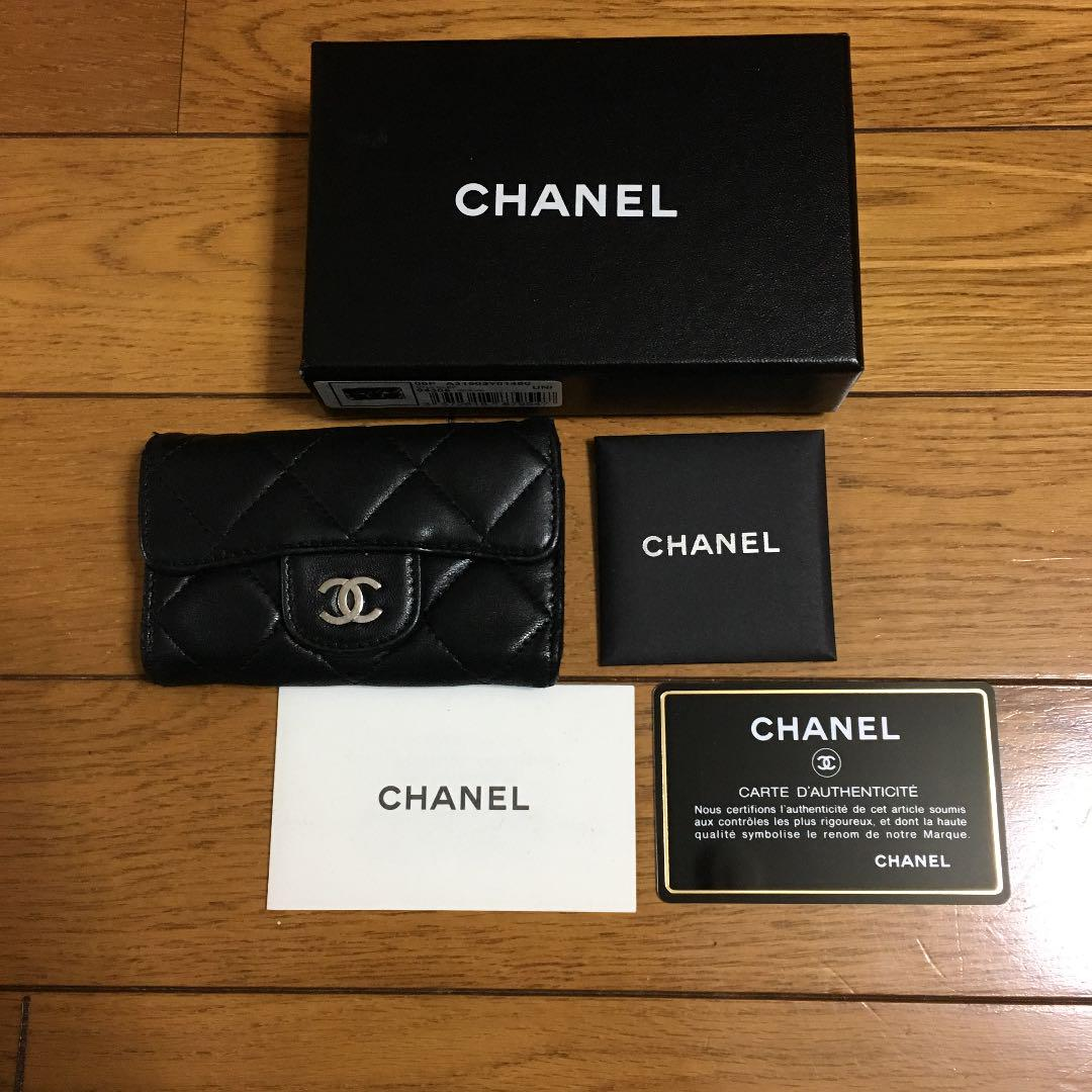 e26b21bf1115 メルカリ - 正規品 CHANEL シャネル 6連 キーケース マトラッセ 黒 ...