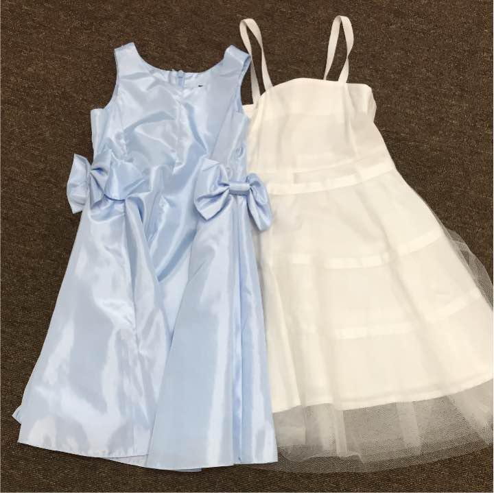 e5257d37fa448 メルカリ - BeBe べべ ドレス 水色 サイズ110 パニエ付き  フォーマル ...