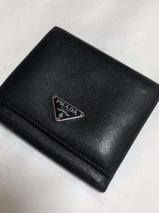 29b592adc012 メルカリ - PRADA/プラダ メンズ サフィアーノレザー 三つ折り 財布 ...