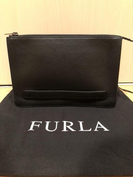 131b89395fce メルカリ - FURLA クラッチバック ユリッセ ブラック 【ビジネスバッグ ...