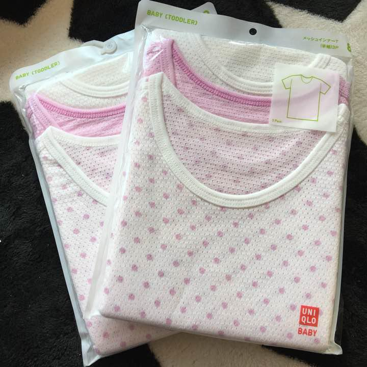6a75c6524f9fc メルカリ - 新品 ユニクロ コットン メッシュインナー 半袖 Tシャツ 80 ...