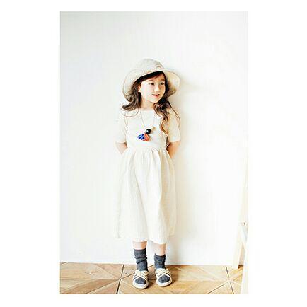 866268964b9b8 メルカリ - 【120サイズ 新品】BIENABIEN韓国子供服ロングワンピース ...