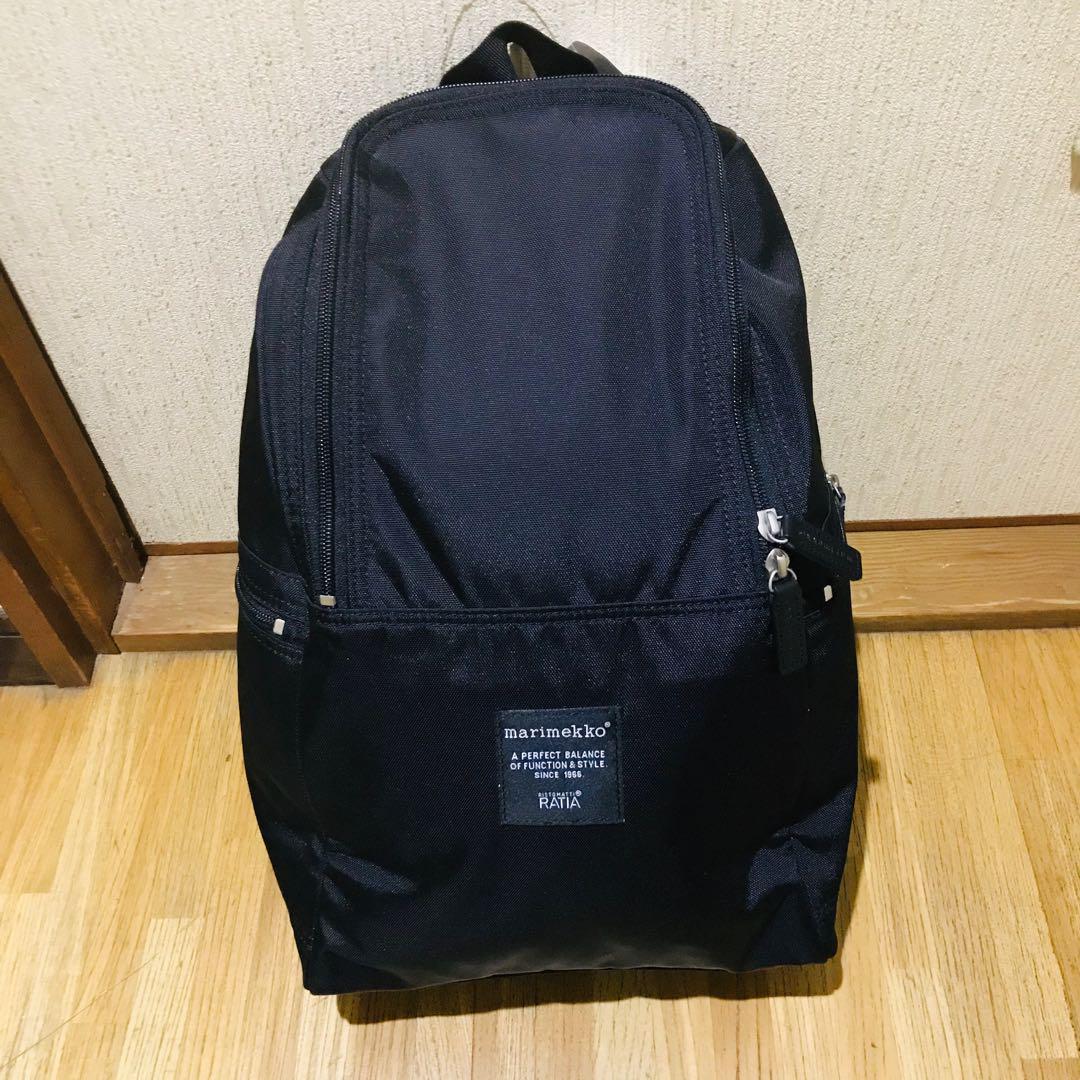 a901c652b354 マリメッコリュックサック 黒 ブラック 人気 ブランド レディース 楽 バッグ