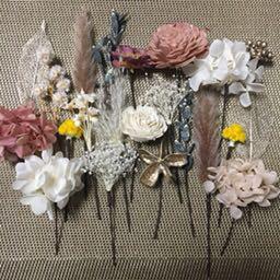 メルカリ 髪飾り ドライフラワー ヘッドドレス 結婚式 成人式 ブライダル 前撮り ウェディング 2 750 中古や未使用のフリマ