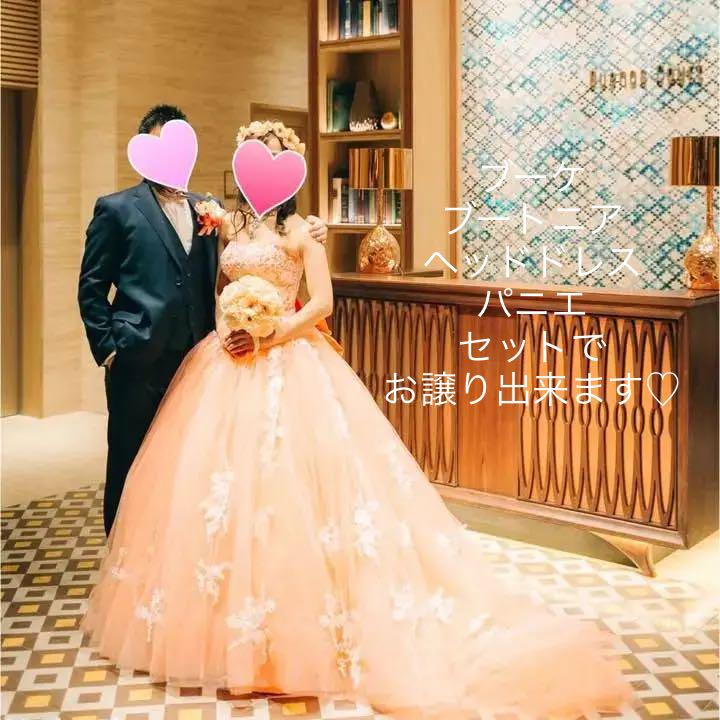 1c48c2de34f72 メルカリ - YNS Wedding カラードレス ブーケ ブートニアヘッドドレス ...