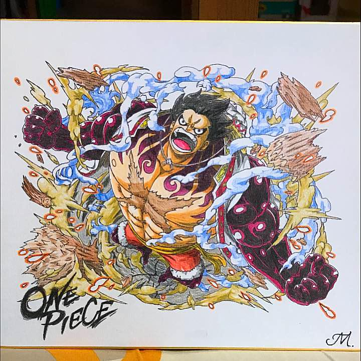メルカリ One Piece イラスト ルフィ ギア4 Wci編 色紙 キャラクター