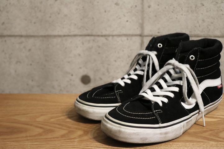 VANS SK8-HI PRO CLASSIC Black Suede 9.5