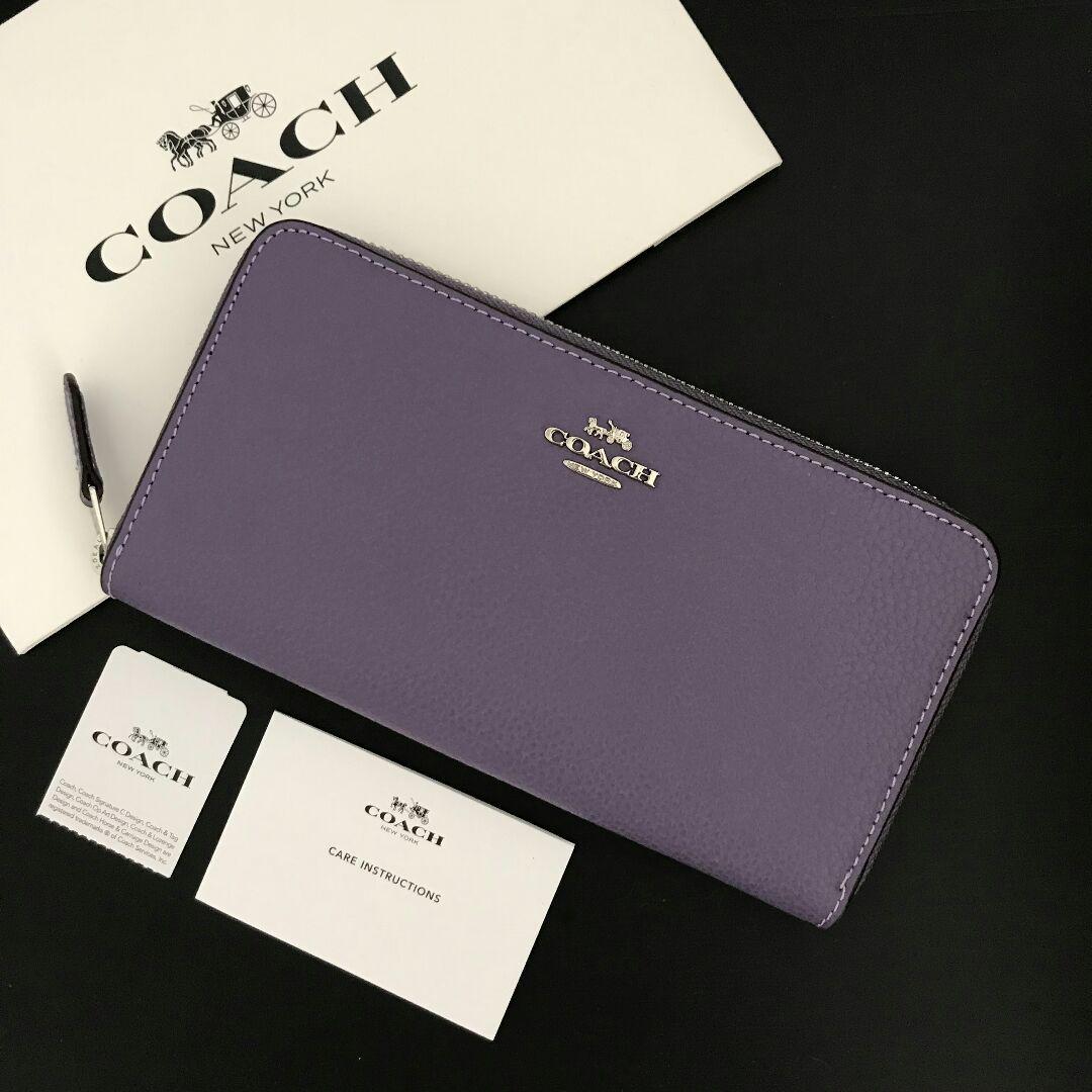 purchase cheap 0b04a c0459 新品♡コーチ 長財布 パープル 紫(¥15,400) - メルカリ スマホでかんたん フリマアプリ