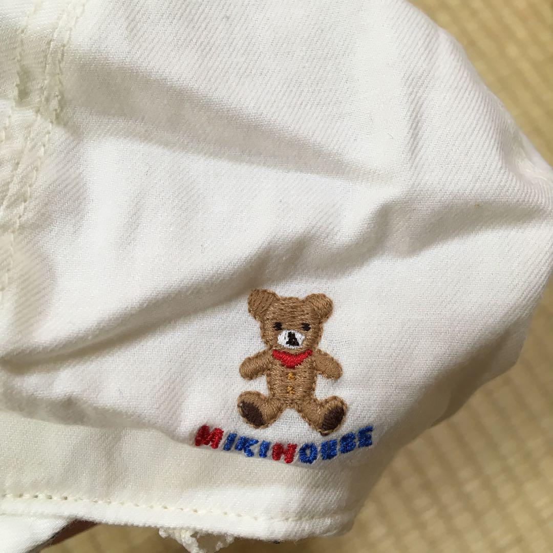 ec83d66dbb7e7 メルカリ - 新品 ミキハウス 52cm 帽子 ハンチング タレ付き帽子 日よけ ...