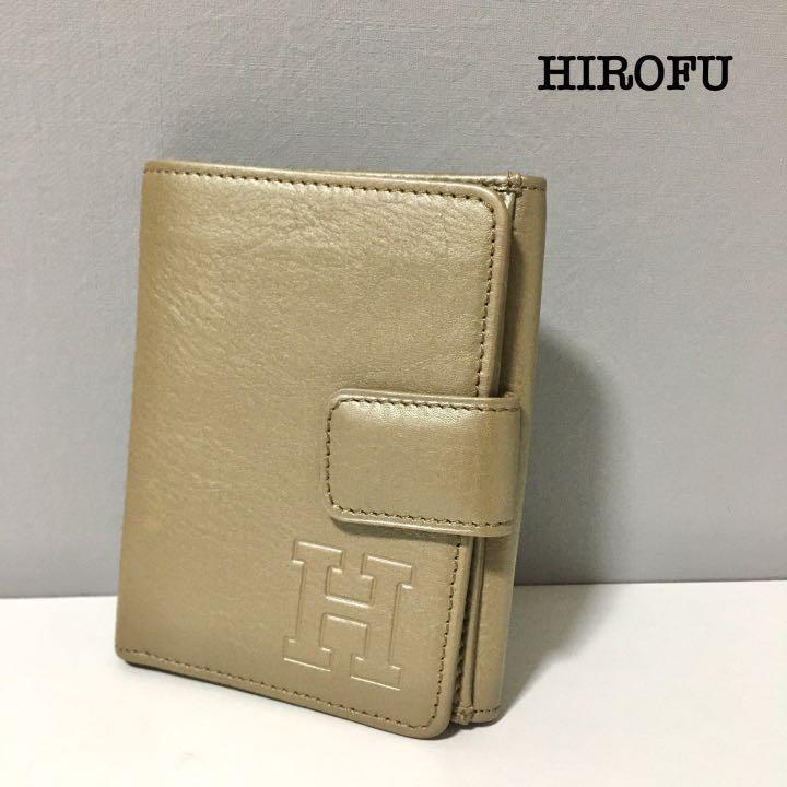 HIROFU ヒロフ 折り畳み財布 ベージュ 美品