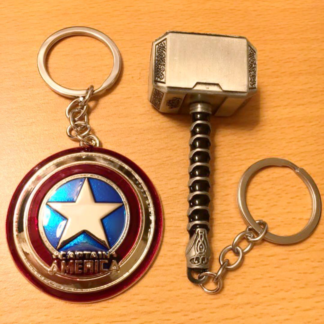 アベンジャーズ エンドゲーム メタルキーホルダー キャプテンアメリカ セット