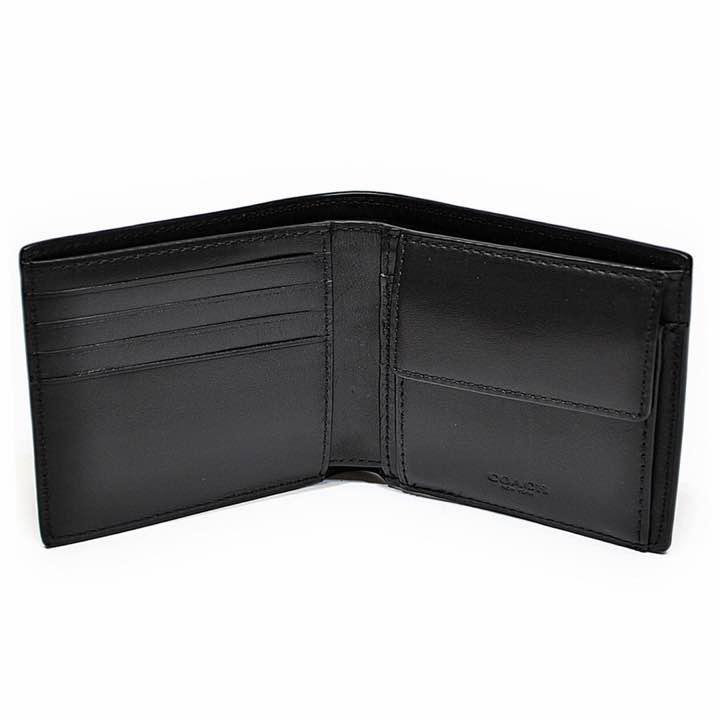 super cute 59ae7 58ac8 新品未使用!コーチ 財布 二つ折り メンズ ブラック f75363blk(¥10,800) - メルカリ スマホでかんたん フリマアプリ