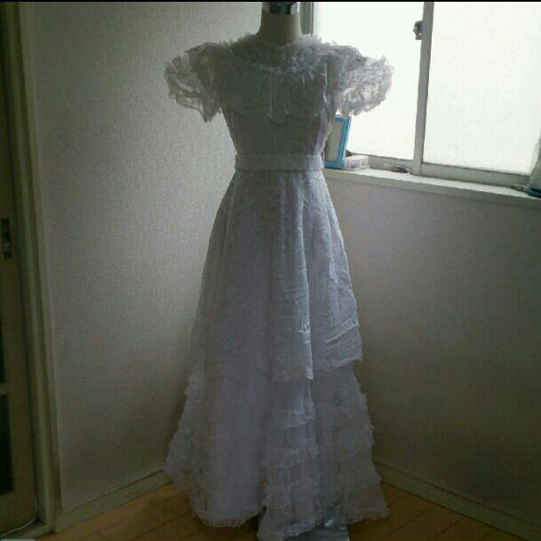 昭和レトロクラシカルなヴィンテージウェディングドレス(¥89,000) , メルカリ スマホでかんたん フリマアプリ