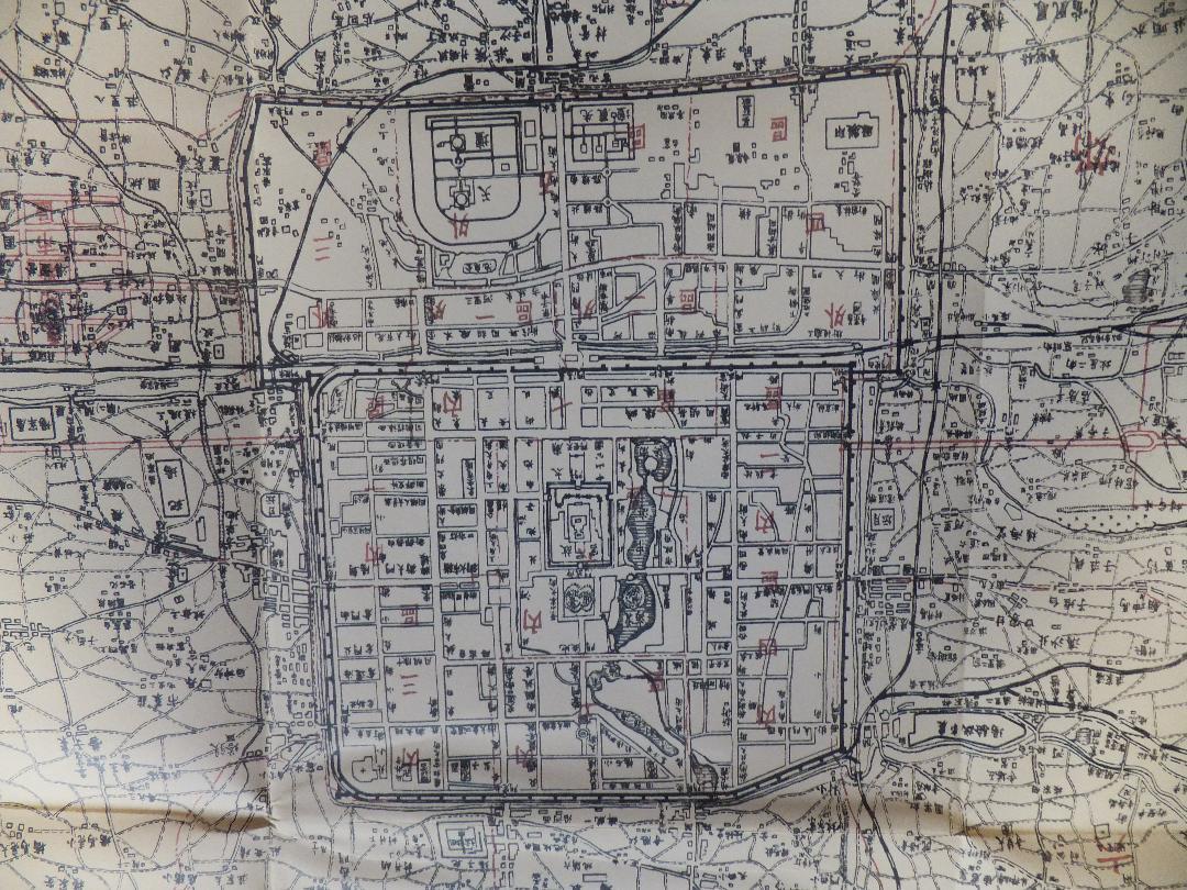 メルカリ - 北平市城郊地図一枚:複製品(北京市:中華民国36年 ...