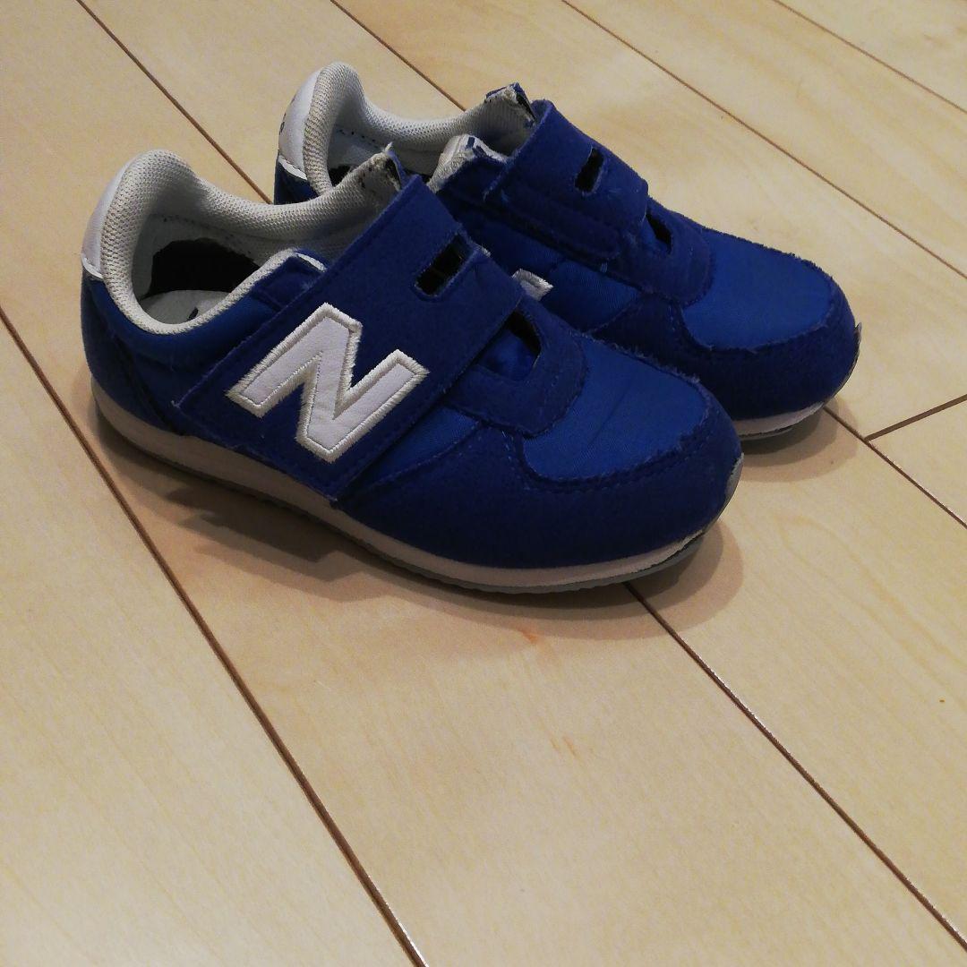 4da28a1c5a6cd メルカリ - new balance青【スニーカー】15.5cm 【ニューバランス ...
