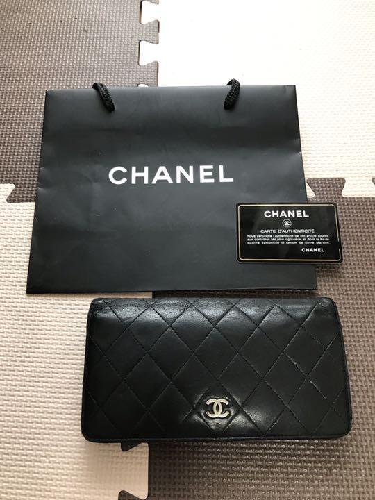 new style 1a879 d56a4 CHANEL シャネル 財布 長財布 ウォレット 黒(¥14,800) - メルカリ スマホでかんたん フリマアプリ