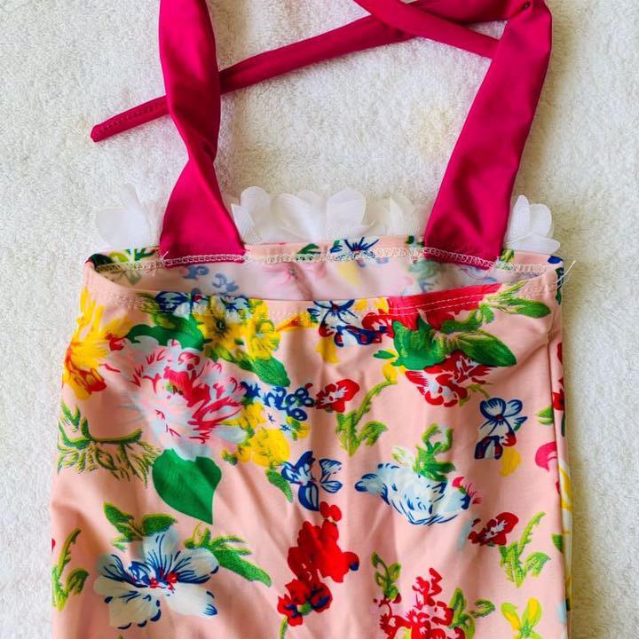 d4c1acc94596f メルカリ - 女の子 水着 ワンピース 花柄 フリル kids 女子 ピンク 90 ...