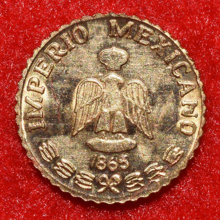 メルカリ - 1855年マクシミリアーノ帝国 1ペソ金貨 【旧貨幣/金貨/銀貨 ...