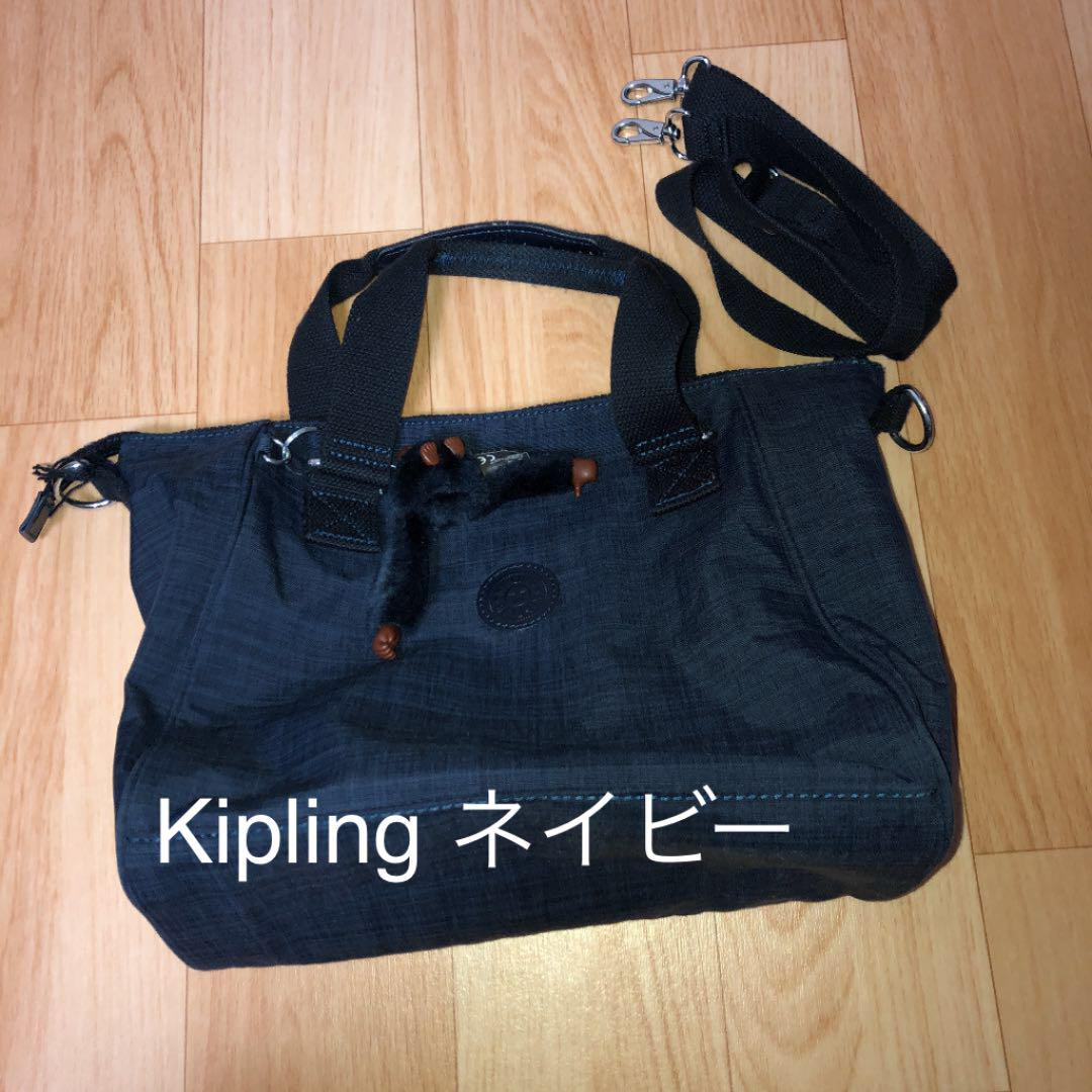 d246db7ea5bf メルカリ - 【 ‼ 】キプリング Kipling 2way トートバッグ ネイビー ...