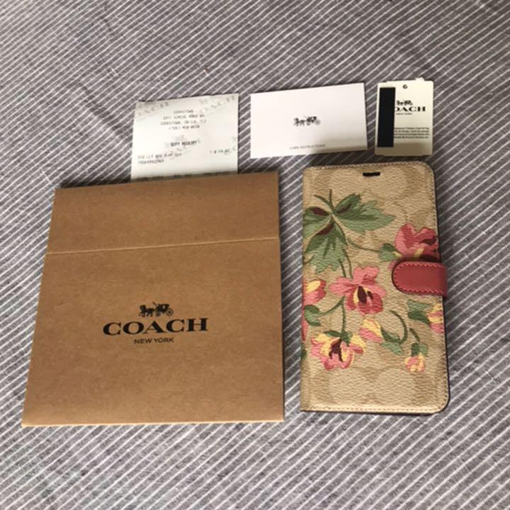 3bbc5197af メルカリ - コーチ COACH 新品 シグネチャー フラワー iPhone XR ケース ...