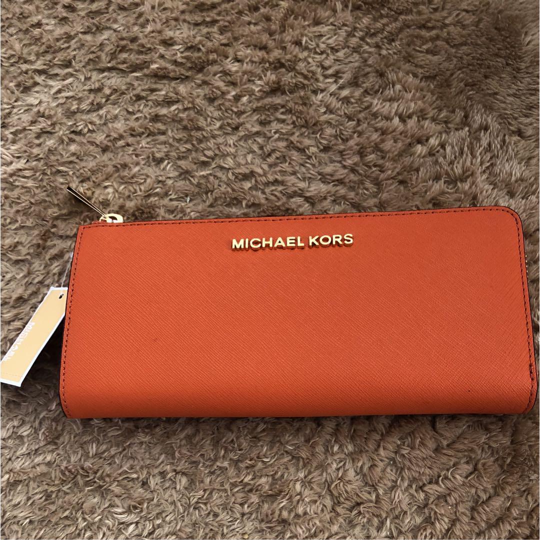buy online f77f2 8b49b マイケルコース 長財布 オレンジ(¥10,800) - メルカリ スマホでかんたん フリマアプリ