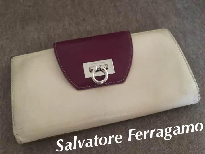 e3c953ec72a3 メルカリ - 【みやさん用】Salvatore Ferragamo 長財布 【used ...