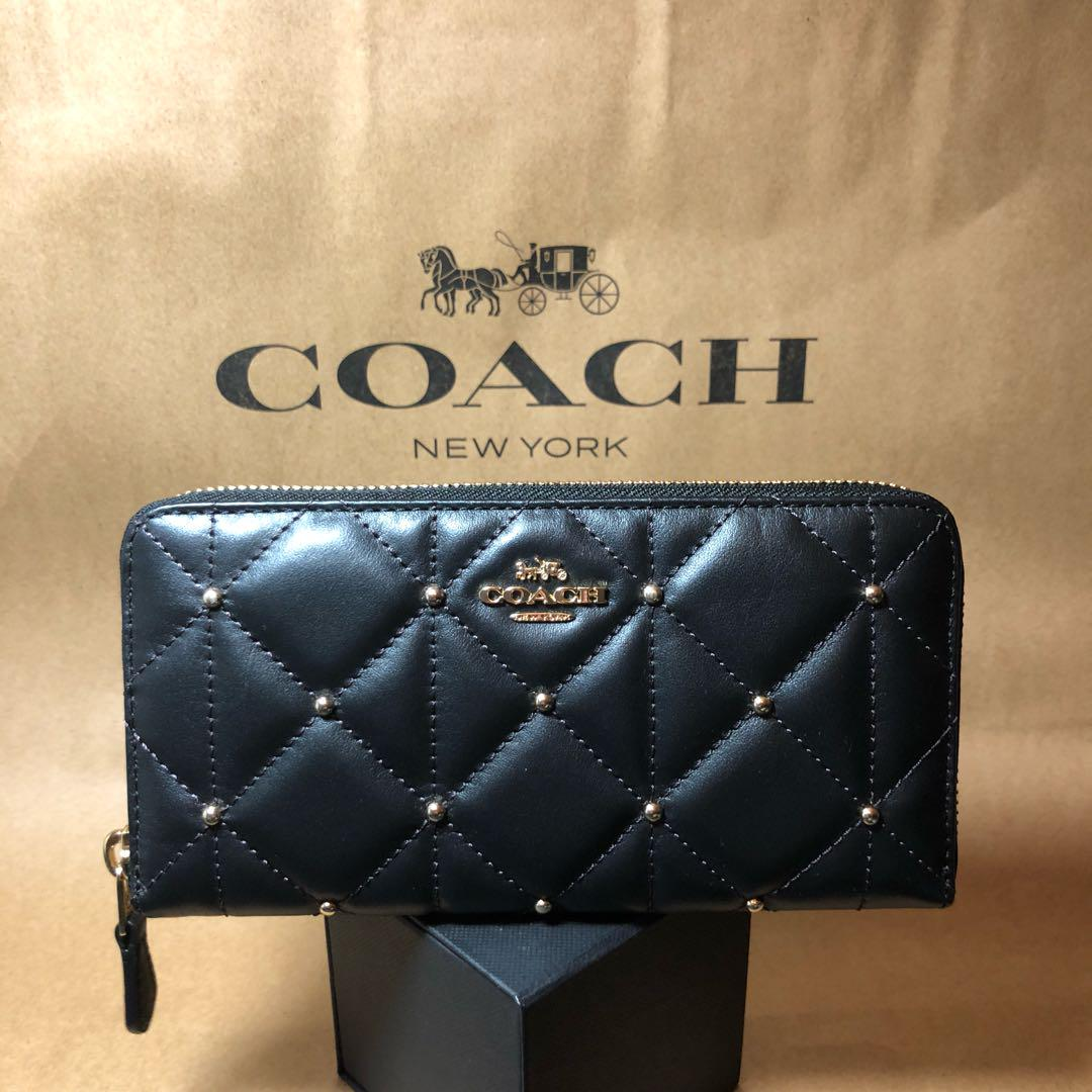 premium selection 56cb6 78baf ★新品 COACH コーチ 長財布 キルティング 黒(¥ 11,000) - メルカリ スマホでかんたん フリマアプリ