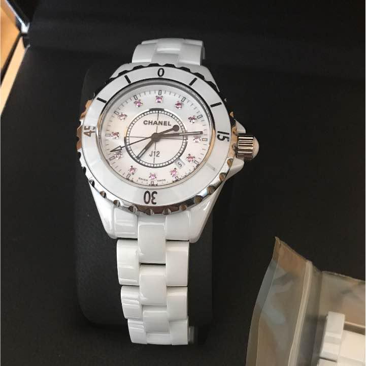 hot sale online 2c078 18182 CHANEL銀座店限定 ピンクサファイア J12 腕時計 シャネル 希少モデル(¥515,000) - メルカリ スマホでかんたん フリマアプリ