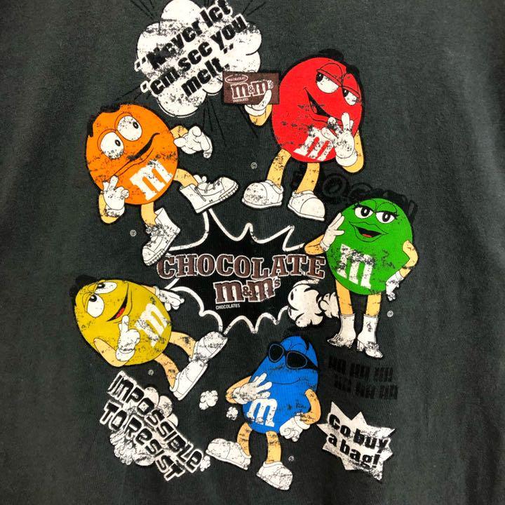 メルカリ 廃盤 M M S イラスト デザインtシャツ メンズ M 黒 古着 デカロゴ Tシャツ カットソー 半袖 袖なし 3 100 中古や未使用のフリマ