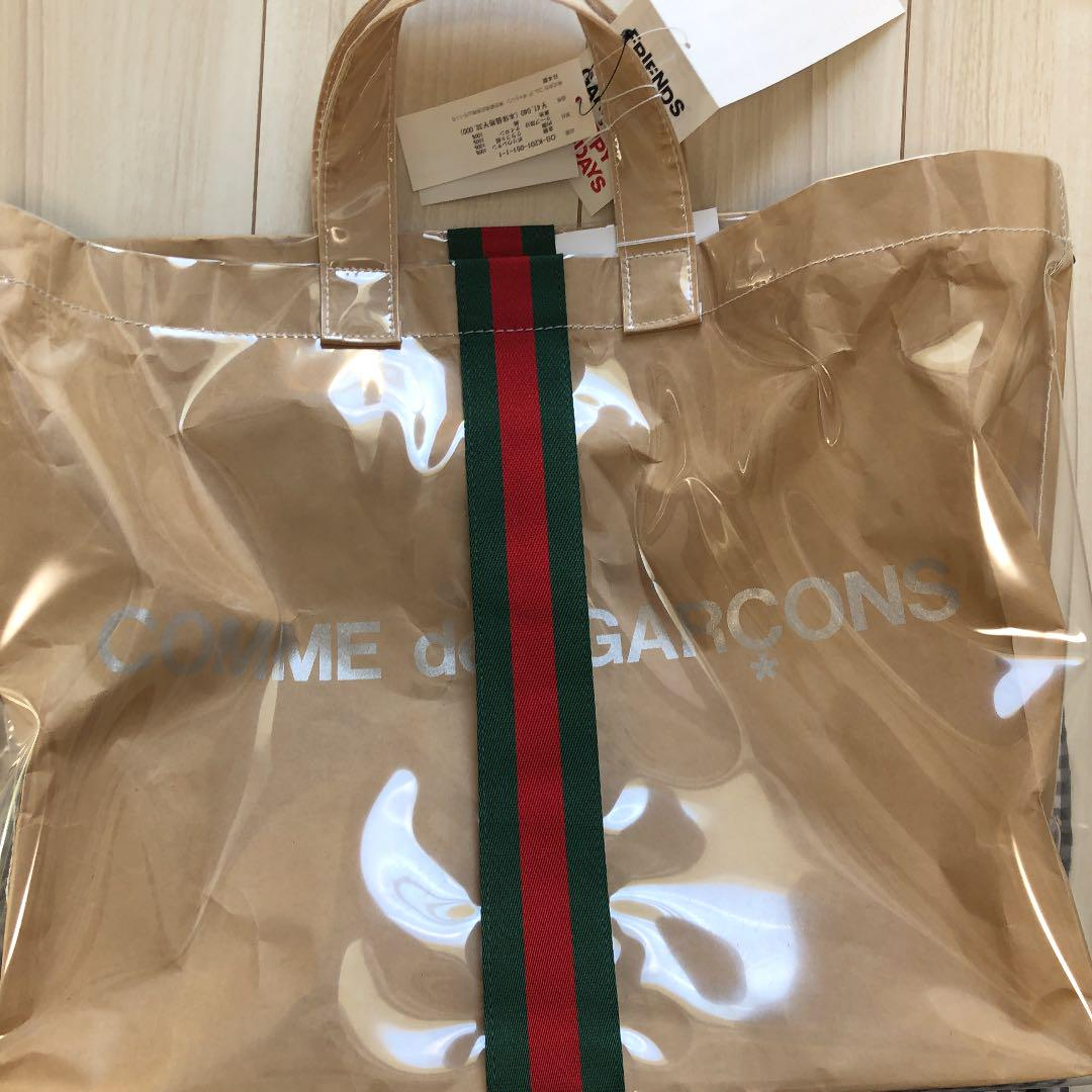 best service dd155 1d46e Comme des Garcons GUCCI コラボ PVCトートバッグ(¥70,000) - メルカリ スマホでかんたん フリマアプリ