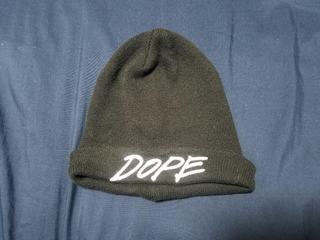 b06d33d70a4d1 メルカリ - DOPE ドープ beanieビーニー 黒ニット帽  ニットキャップ ...
