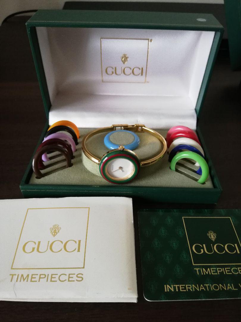 quality design 405e1 a2cc2 GUCCI チェンジベゼル 腕時計(¥21,400) - メルカリ スマホでかんたん フリマアプリ