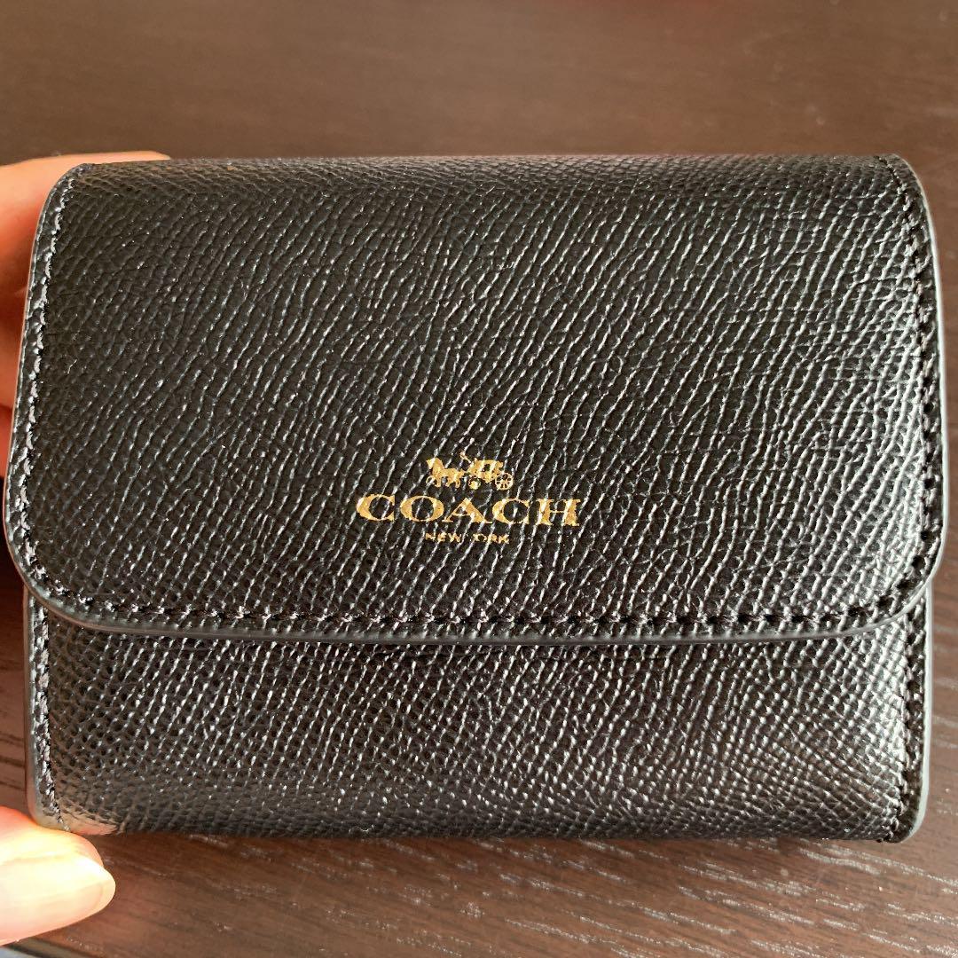 detailed look d0b25 d6f10 COACH コーチ ミニ財布 ブラック(¥ 5,800) - メルカリ スマホでかんたん フリマアプリ