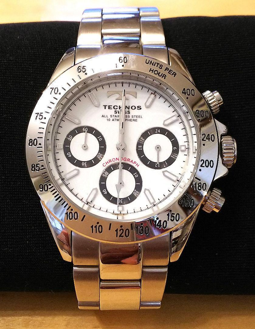 quality design c10e9 901f0 TECHNOS 腕時計 クォーツ クロノグラフ デイトナオマージュ(¥6,500) - メルカリ スマホでかんたん フリマアプリ
