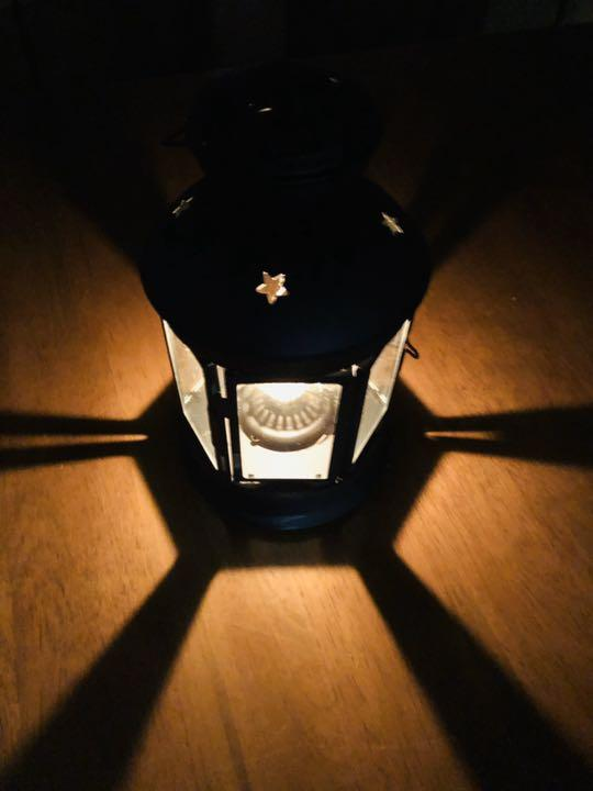 Dietz Hexagon Oil or Tea Lamp Candle Lantern Convertible Black