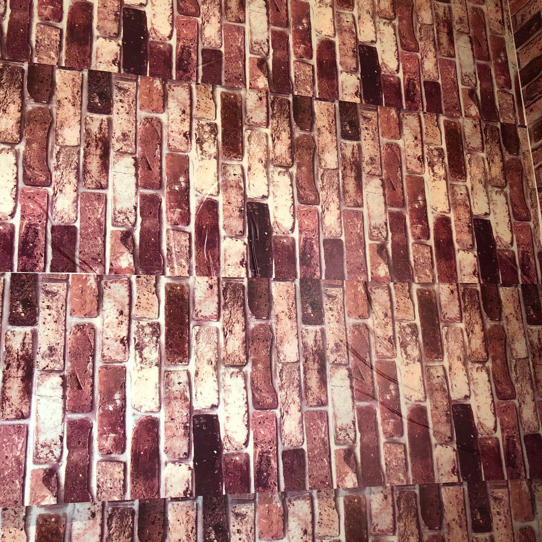 メルカリ 壁紙 レンガ柄 45cm 10m インテリア 住まい 小物