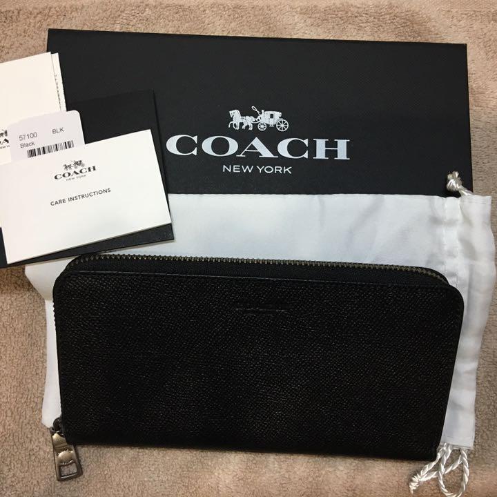huge discount bc0ab 2998c COACH コーチ 長財布 アコーディオン ウォレット クロスグレイン レザー(¥19,800) - メルカリ スマホでかんたん フリマアプリ