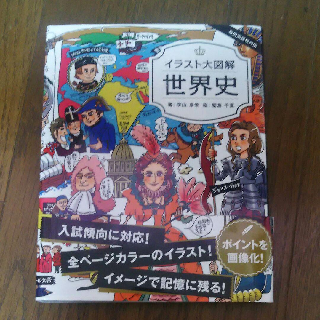 メルカリ 即買いokgakken イラスト大図解 世界史 参考書 400