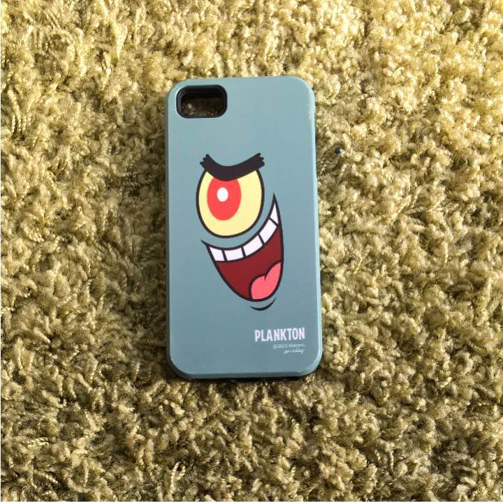 スポンジボブ プランクトンのスマホケース(¥1,000) , メルカリ スマホでかんたん フリマアプリ