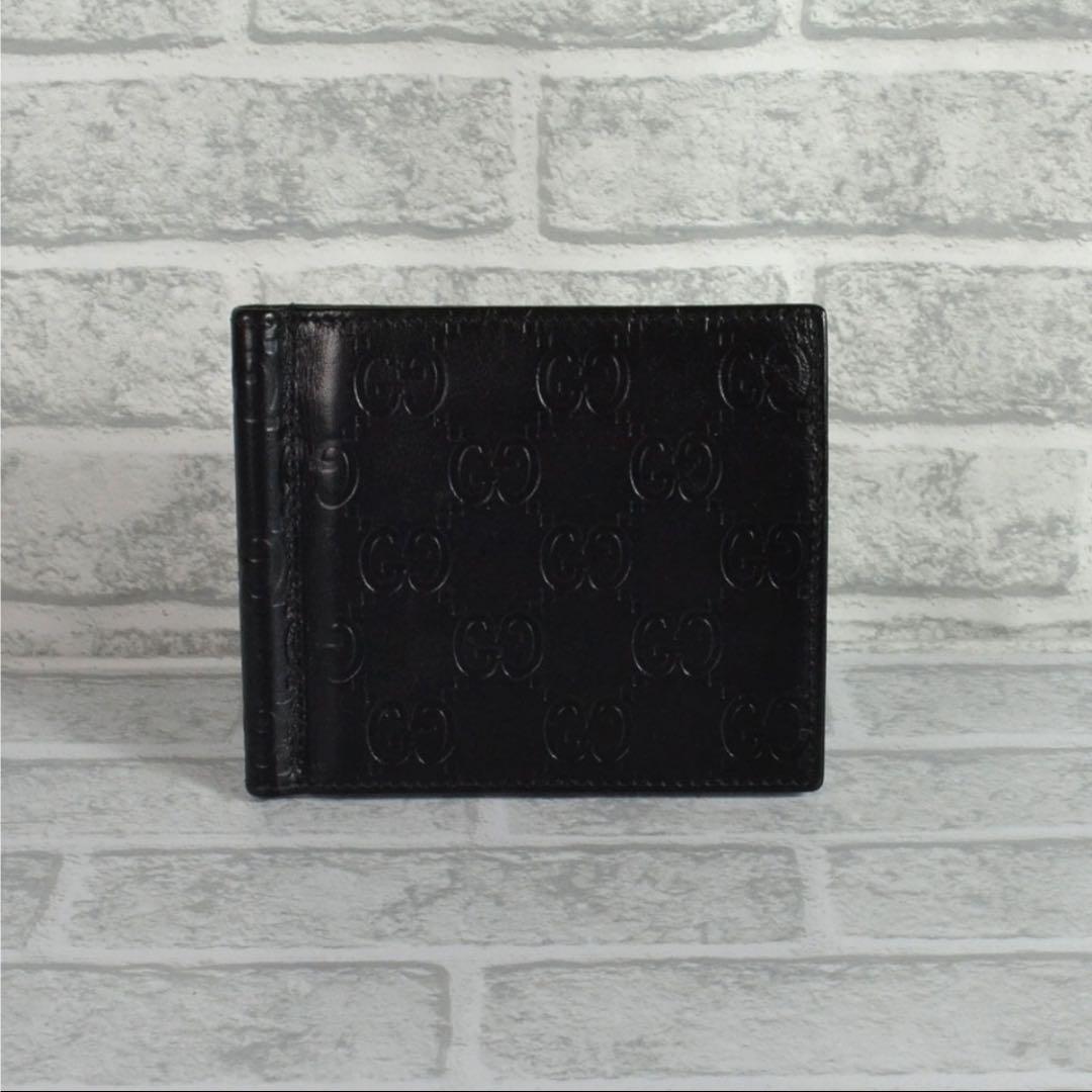 9f3d70ab22f2 メルカリ - グッチ GUCCI 170580 メタル マネークリップ付 二つ折り財布 ...