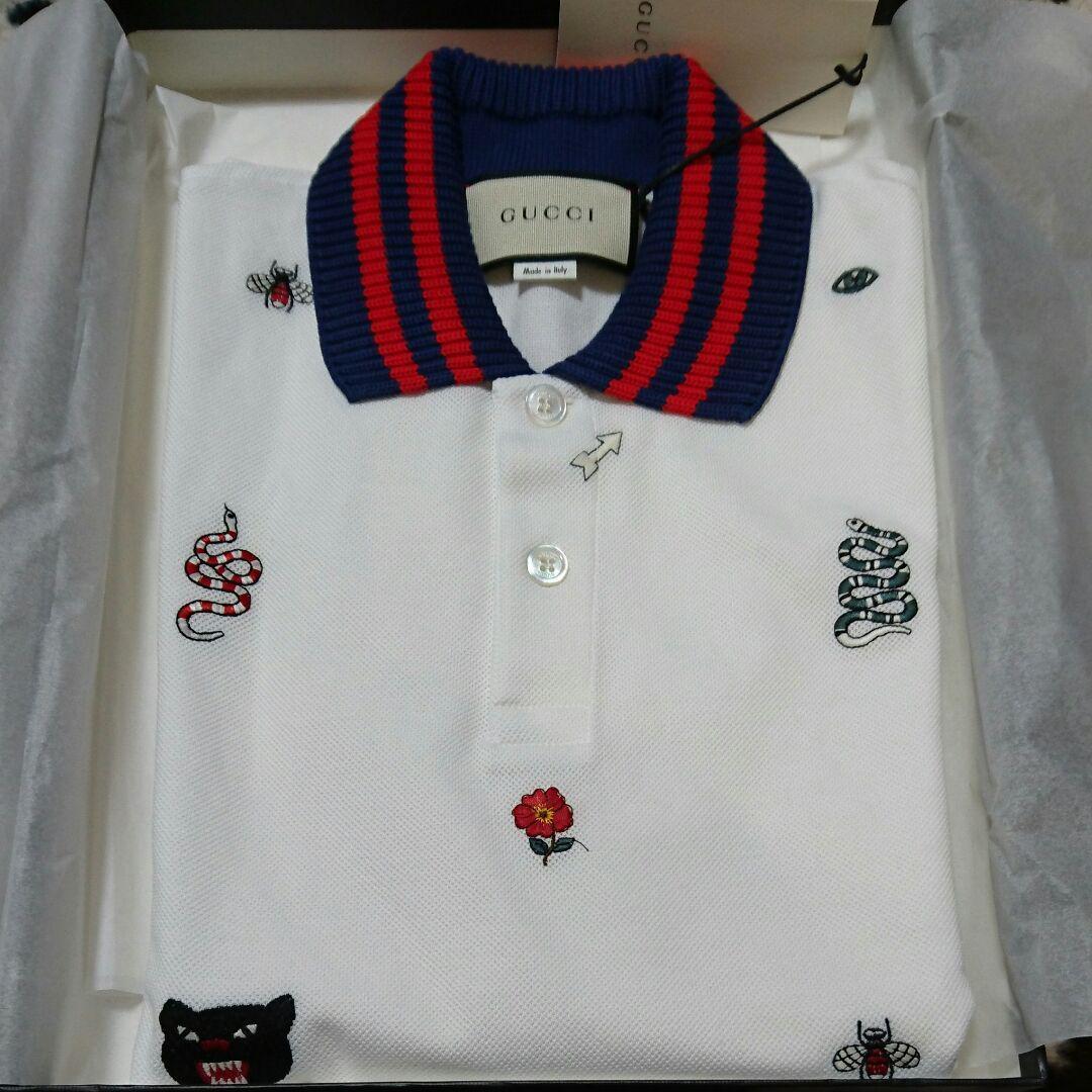 the latest 130aa 94085 GUCCI ポロシャツ メンズ(¥49,500) - メルカリ スマホでかんたん フリマアプリ