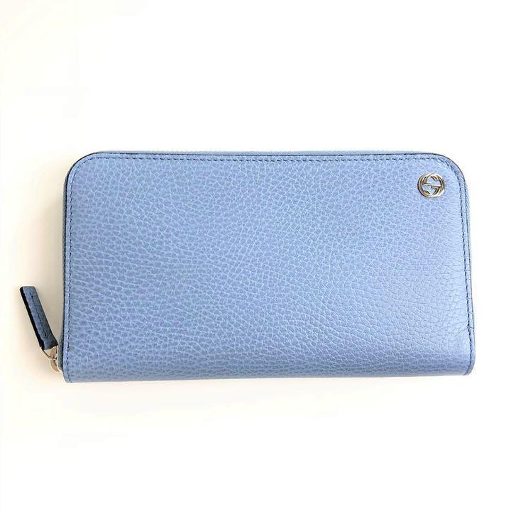 separation shoes 7e830 0eff2 GUCCI グッチ レディース 長財布 449347 青系 ブルー系 水色(¥69,800) - メルカリ スマホでかんたん フリマアプリ