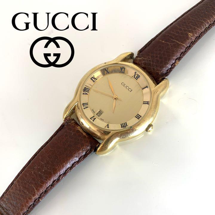 7a74927b6e2a メルカリ - GUCCI グッチ オールドグッチ ヴィンテージ 腕時計 レトロ ...