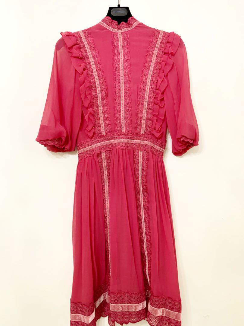 5fedfcd4806f9 メルカリ - ワンピース コスタレロス ドレス ピンク サイズ36  ひざ丈 ...