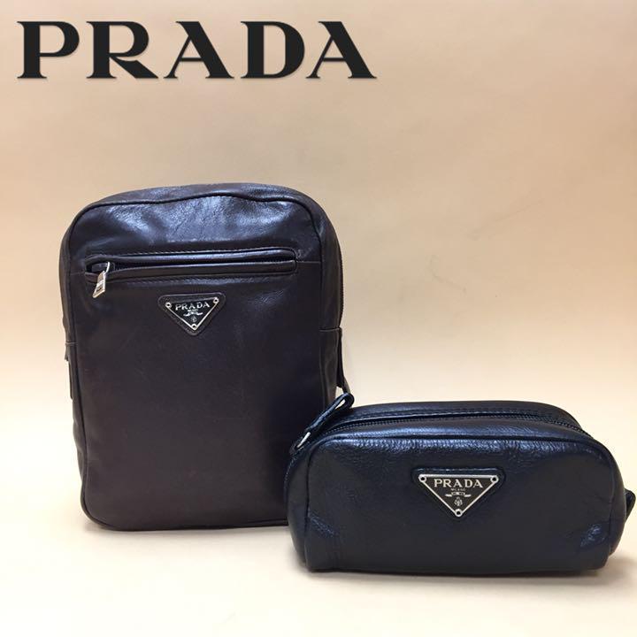 c03812708e78 メルカリ - ヴィンテージ PRADA プラダ リュックサック ポーチ セット ...