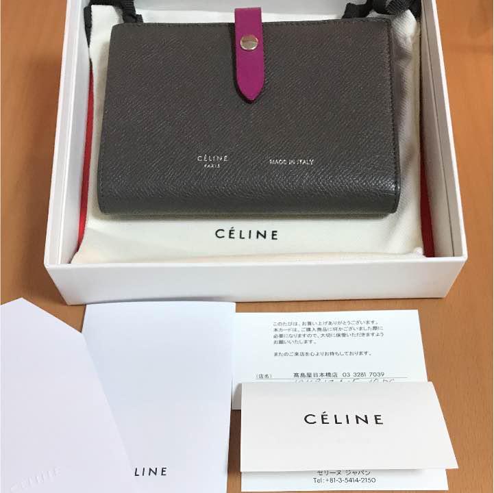 19c1d7f3ec33 正規店購入 CELINE ストラップ ミディアム マルチファンクション お財布